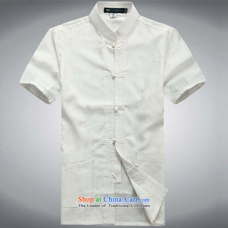 Hundreds of brigade bailv summer Stylish slim, collar comfortable short-sleeved T-shirt white clip relax disc?XL