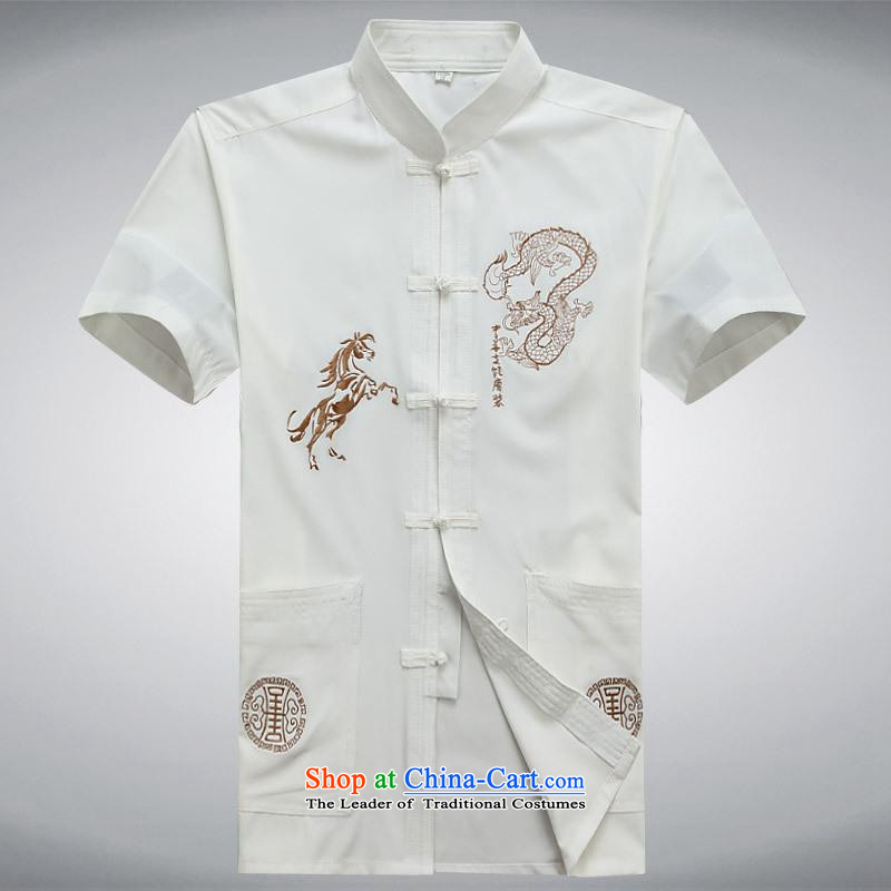 Hundreds of brigade bailv summer Stylish slim, collar comfortable short-sleeved T-shirt leisure detained disc white?L