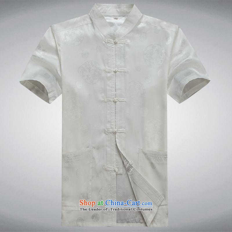 Hundreds of brigade bailv summer Stylish slim, collar comfortable short-sleeved leisure wears ties up White?M