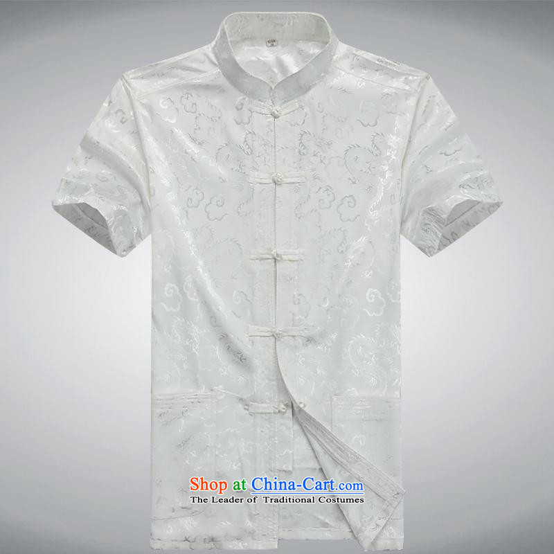 Hundreds of brigade bailv summer Stylish slim plate fasteners leisure Short-Sleeve Mock-Neck comfortable Suite White?M
