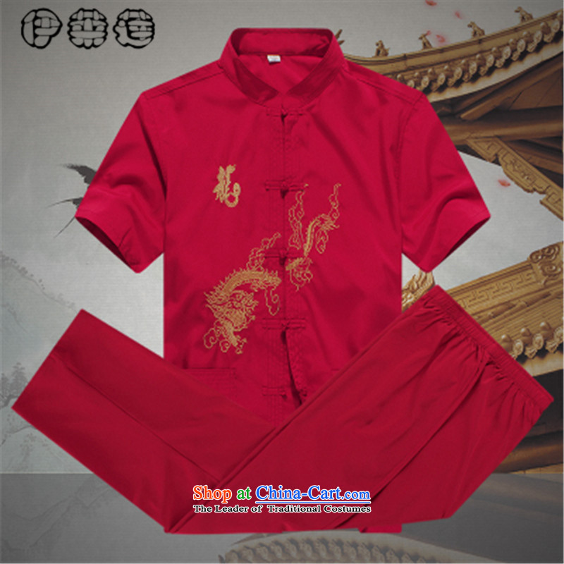 Hirlet Wu Xia Men, 2015 Tang Dynasty Package short-sleeved and older persons in the Men's Shirt Dad code pants grandpa summer jacket coat聽A red聽175, Electrolux Ephraim ILELIN () , , , shopping on the Internet