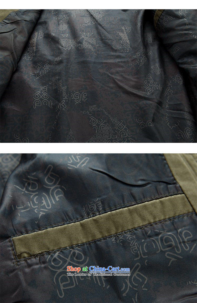 Kanaguri mouse new men in the spring of long-sleeved Tang Tang dynasty older men and elderly long-sleeved jacket Tang collar disc detained men dark green聽XXXL picture, prices, brand platters! The elections are supplied in the national character of distribution, so action, buy now enjoy more preferential! As soon as possible.