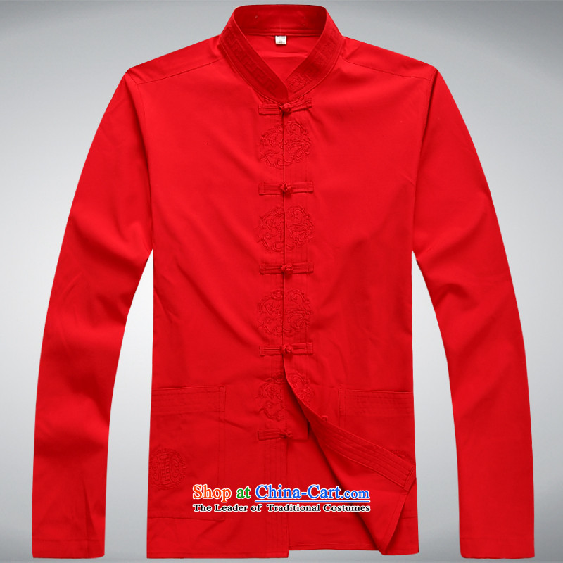 Hundreds of brigade bailv summer Stylish slim, collar comfortable long-sleeved tray clip leisure wears RED?M