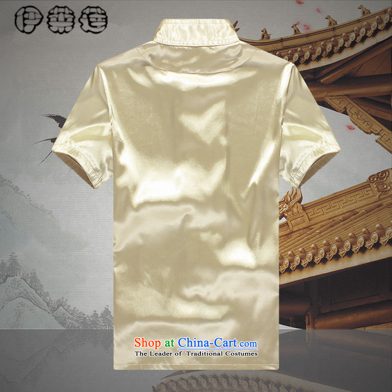 Hirlet Wu Xia Tang Dynasty, 2015 emulation silk men short-sleeved T-shirt and older persons in the Han-China wind men's loose large short-sleeve kit white聽175 Yele Ephraim ILELIN () , , , shopping on the Internet