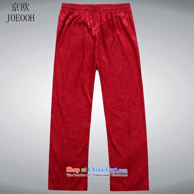 Beijing OSCE Tang pants and a�new summer 2015, men casual men's trousers, Tang dynasty red�L