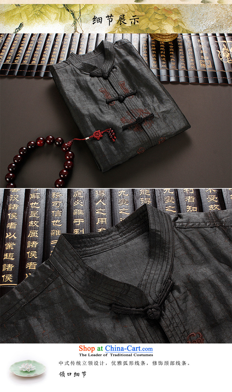 The Lhoba nationality Wei Mephidross Warranty Tang dynasty men silk shirts to Summer Scent of Tang Dynasty and cloud short-sleeved clothes on the older 100 herbs extract Tang-pack Black聽4XL Photo, prices, brand platters! The elections are supplied in the national character of distribution, so action, buy now enjoy more preferential! As soon as possible.