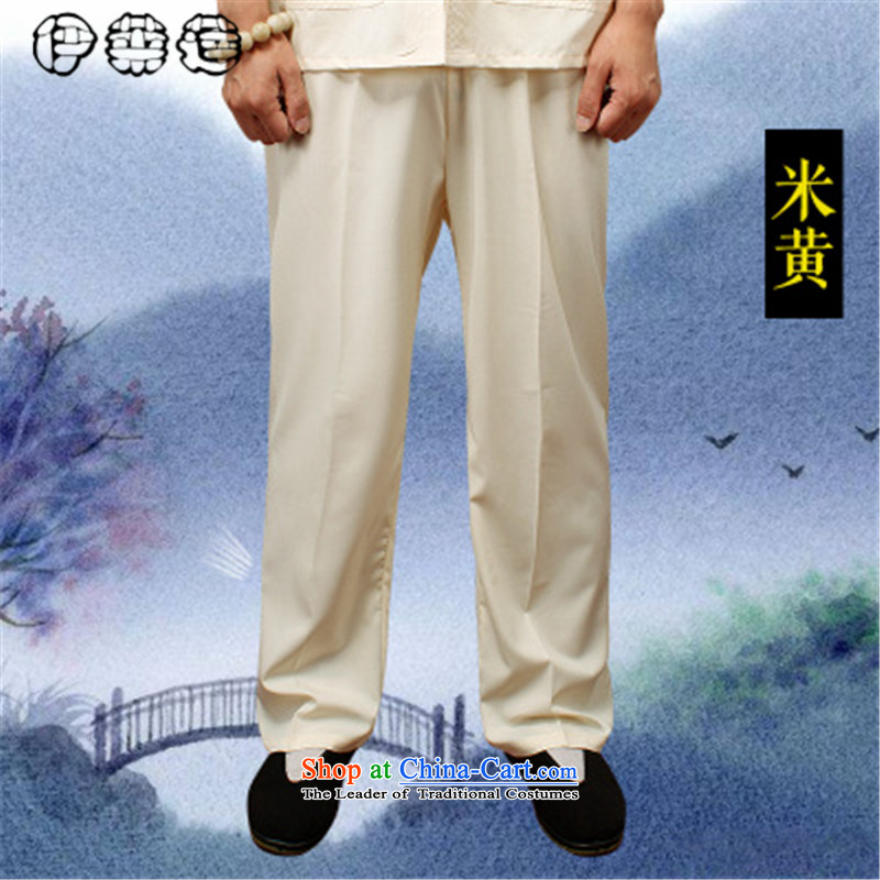Hirlet summer 2015, Tang Lin pants older summer knitting cloth elastic long trousers and Tai Chi practitioners large loose trousers breathable older casual pants red XXXL, Yele Ephraim ILELIN () , , , shopping on the Internet