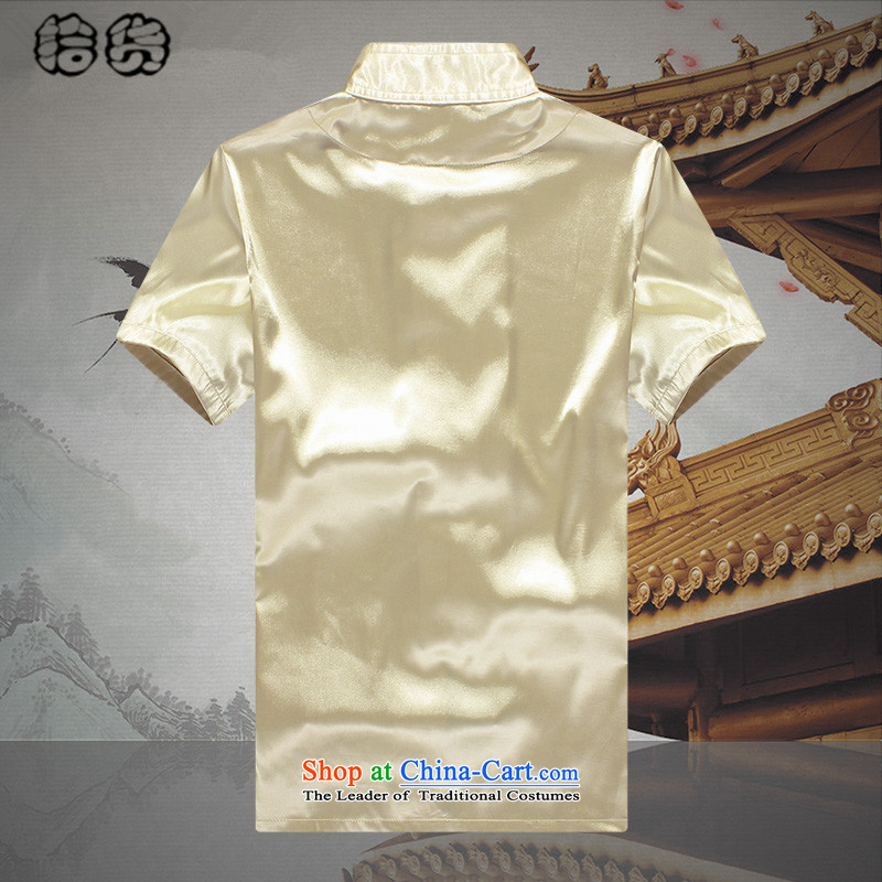 The 2015 summer, pickup men Tang Dynasty Package short-sleeved of older persons in the men's large relaxd clothes pants grandpa summer father jacket coat聽190, blue pickup (shihuo) , , , shopping on the Internet