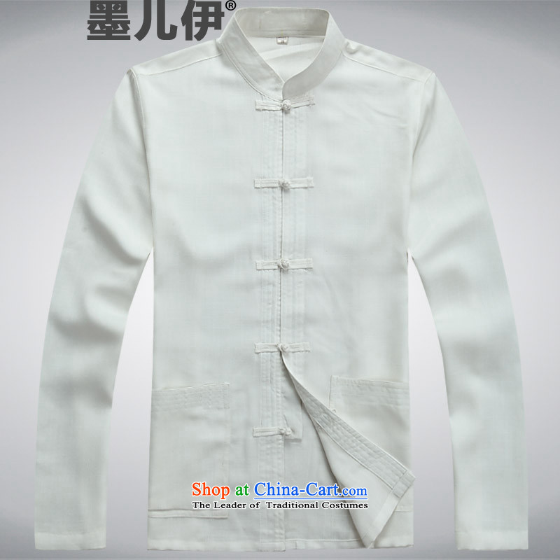 Older persons in the Tang dynasty and short-sleeve packaged cotton linen stay relaxing father replacing Tang Dynasty Chinese Summer Package Father's Day Gifts China wind white?S
