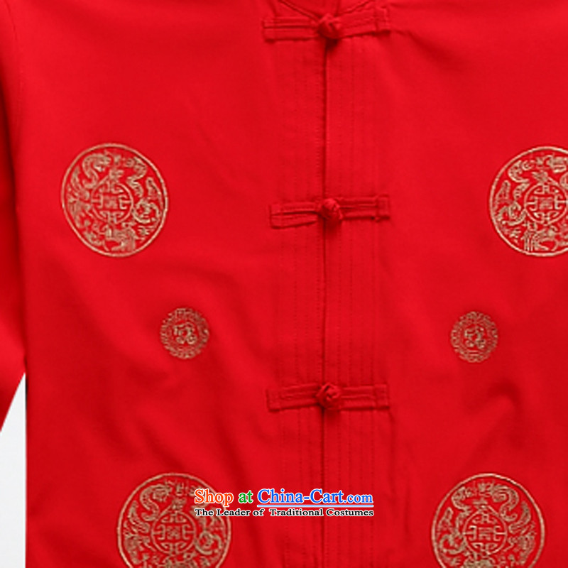 2015 Tang Dynasty Chinese men's summer Long-Sleeve Shirt retro China wind National Red聽M ink-wind (MORE YI) , , , shopping on the Internet