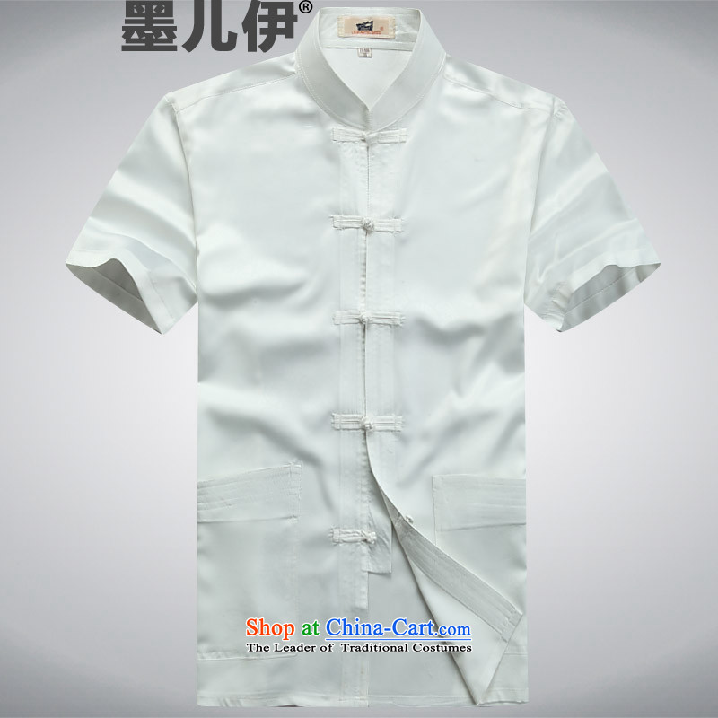 Summer Tang dynasty China wind men of older persons in the short-sleeved grandpa summer white?S