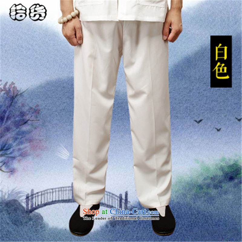 The 2015 summer, pickup short pants men of older people in a very casual summer men Large Tang pants men's trousers, Tang dynasty and multi-colored White聽XXL