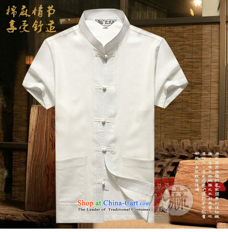Hirlet Wu Xia, 2015 China wind men Tang Dynasty Short-Sleeve Men Han-linen shirt larger men loose cotton linen summer short-sleeved shirt with white middle-aged Tang聽180 pictures, prices, brand platters! The elections are supplied in the national character of distribution, so action, buy now enjoy more preferential! As soon as possible.