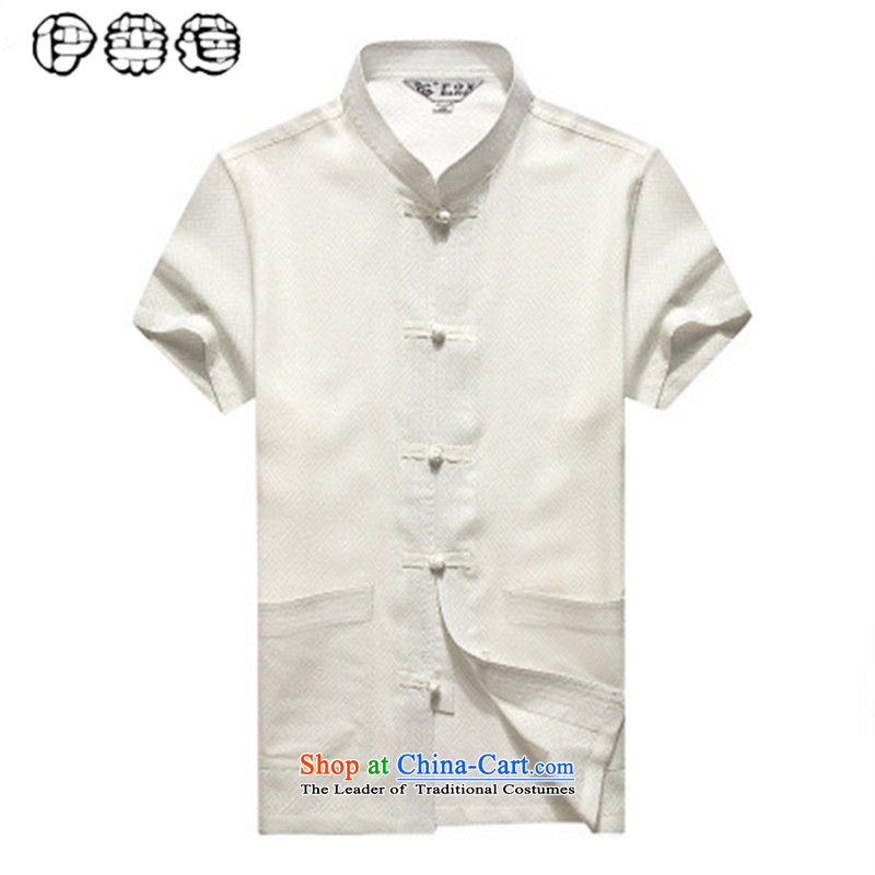Hirlet Wu Xia, 2015 China wind men Tang Dynasty Short-Sleeve Men Han-linen shirt larger men loose cotton linen summer short-sleeved shirt with white middle-aged Tang聽180, Electrolux Ephraim ILELIN () , , , shopping on the Internet