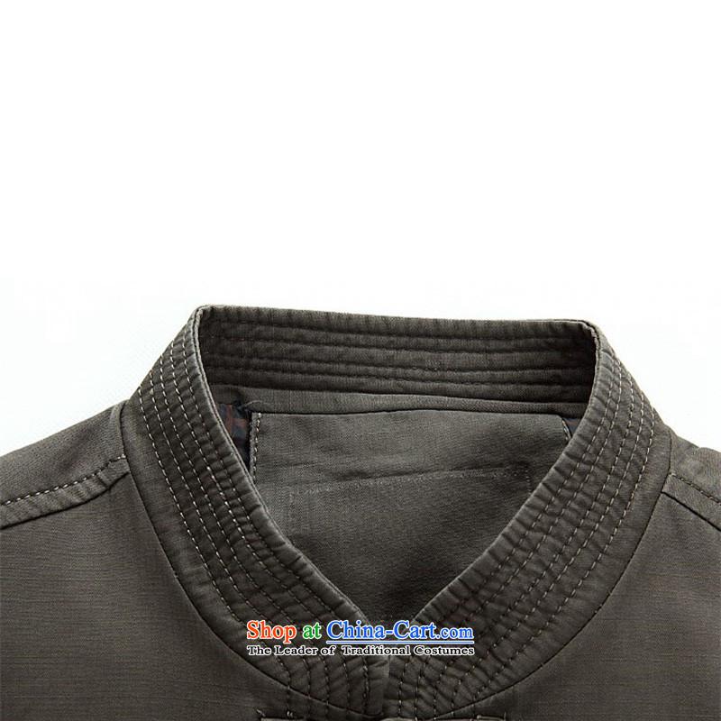 Kanaguri mouse in older men long-sleeved Tang dynasty male Tang blouses sha money-cotton men and boys Chinese jacket spring jacket聽, dark gray kanaguri mouse (JINLISHU) , , , shopping on the Internet