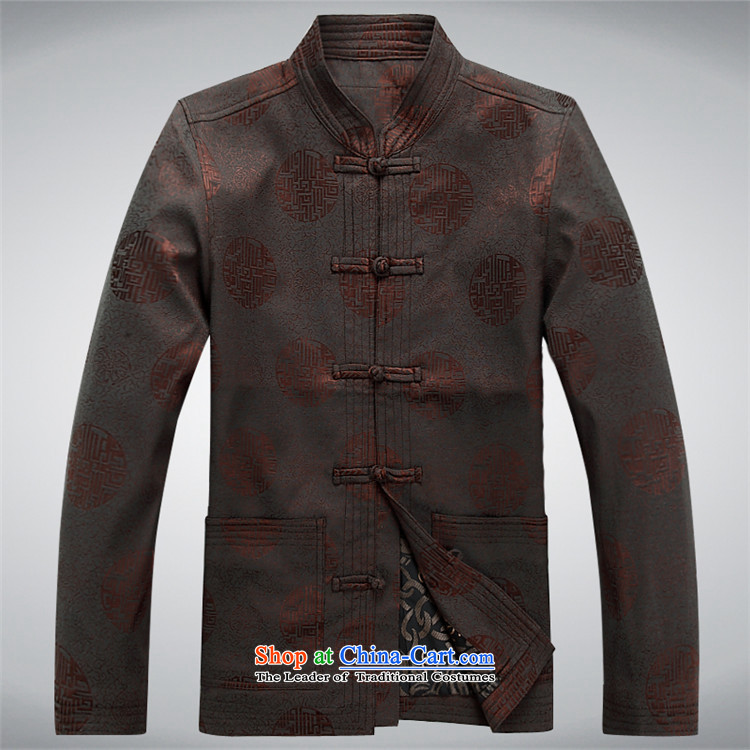 Kanaguri Tang Dynasty Chinese Pan Mouse tie long-sleeved sweater shirt that older men and add code leisure T-shirt and brown hypertrophy XXXL picture, prices, brand platters! The elections are supplied in the national character of distribution, so action, buy now enjoy more preferential! As soon as possible.