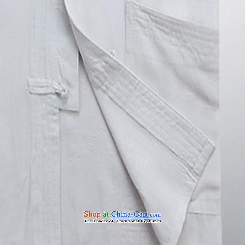 2015 New Tang Dynasty Xia Men's older pure cotton Tang Dynasty Short-Sleeve Men with white ink s father-YI (MORE shopping on the Internet has been pressed.