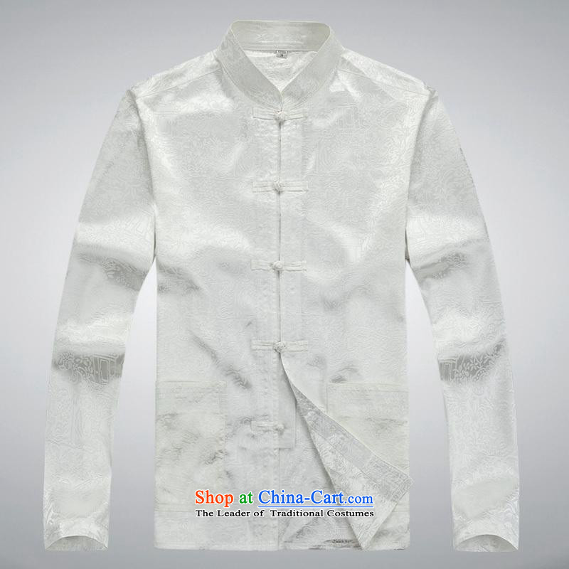 Hundreds of brigade bailv summer Stylish slim, collar comfortable long-sleeved tray clip leisure wears White燲L
