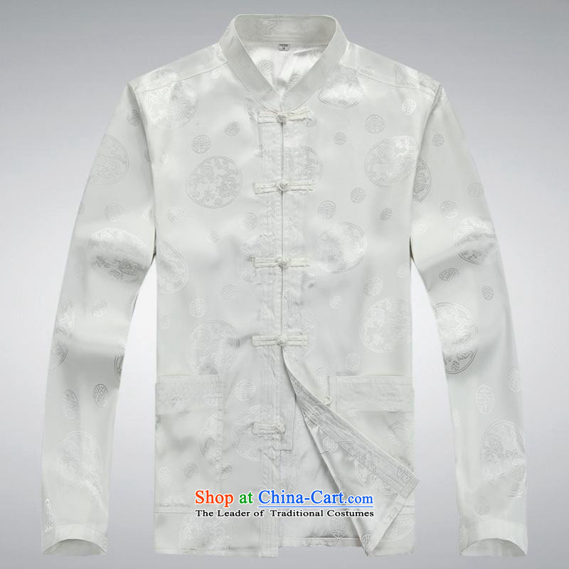 Hundreds of brigade bailv summer Stylish slim, collar comfortable long-sleeved tray clip leisure wears聽XXXL White