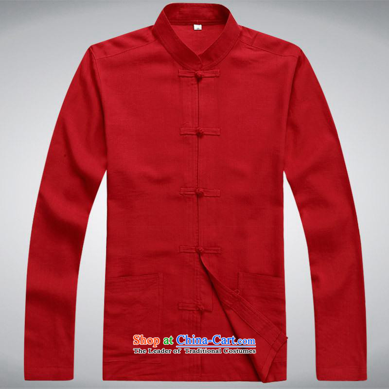 Hundreds of brigade bailv summer Stylish slim, collar comfortable long-sleeved tray clip leisure wears red?XL
