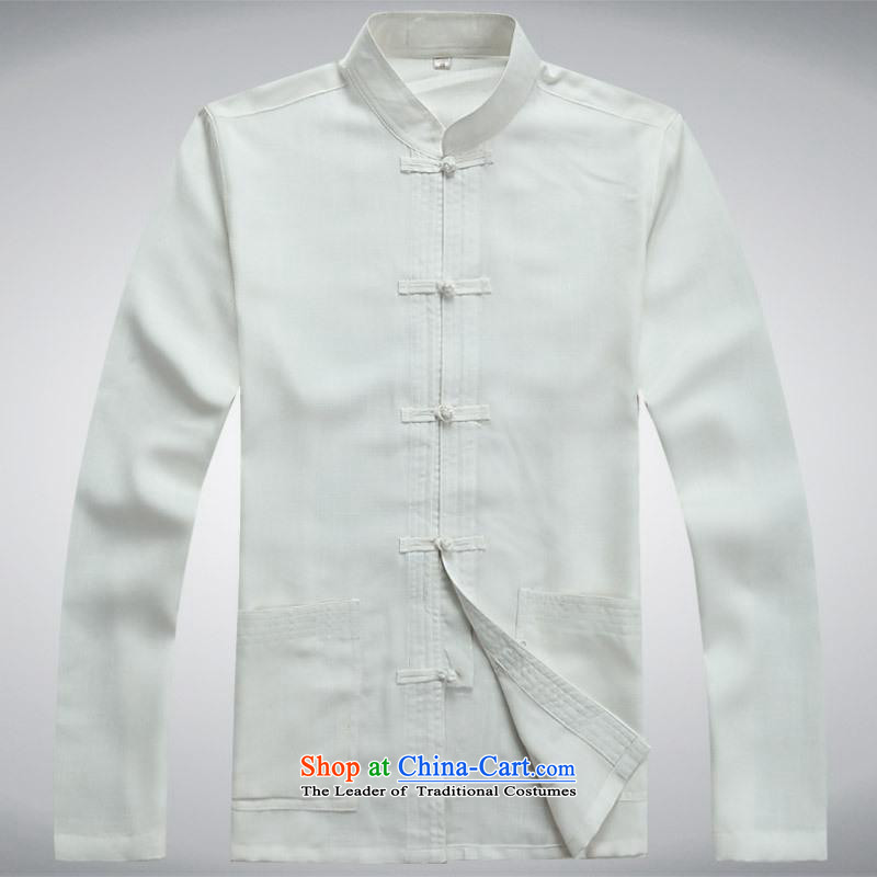 Hundreds of brigade bailv summer Stylish slim, collar comfortable long-sleeved tray clip leisure wears White聽XL