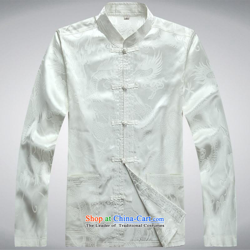 Hundreds of brigade bailv summer Stylish slim, collar comfortable long-sleeved tray clip leisure wears White?XL