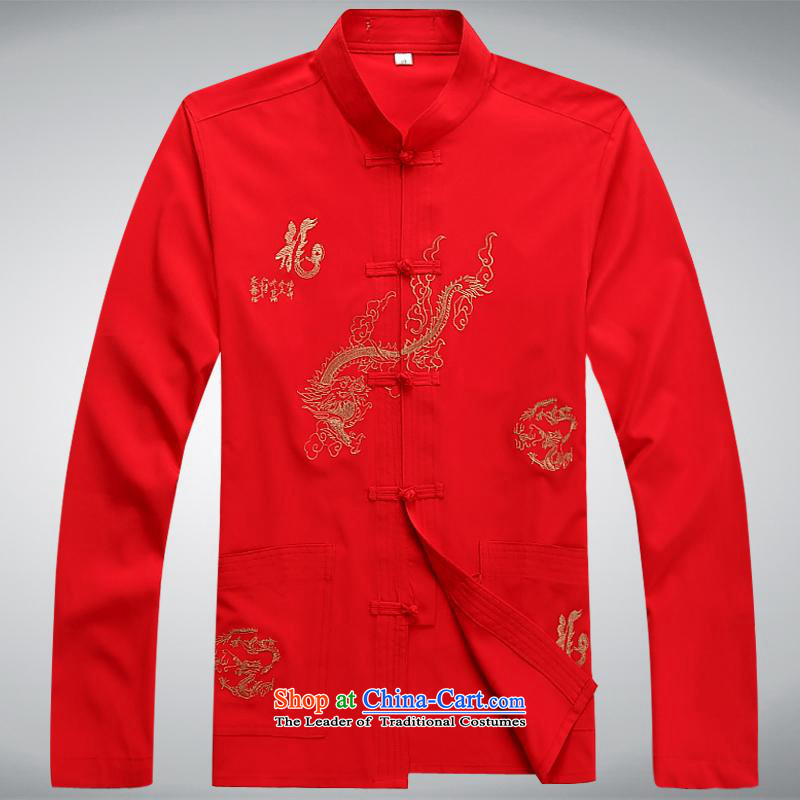 Hundreds of brigade bailv summer Stylish slim, collar comfortable long-sleeved tray clip leisure wears red?L