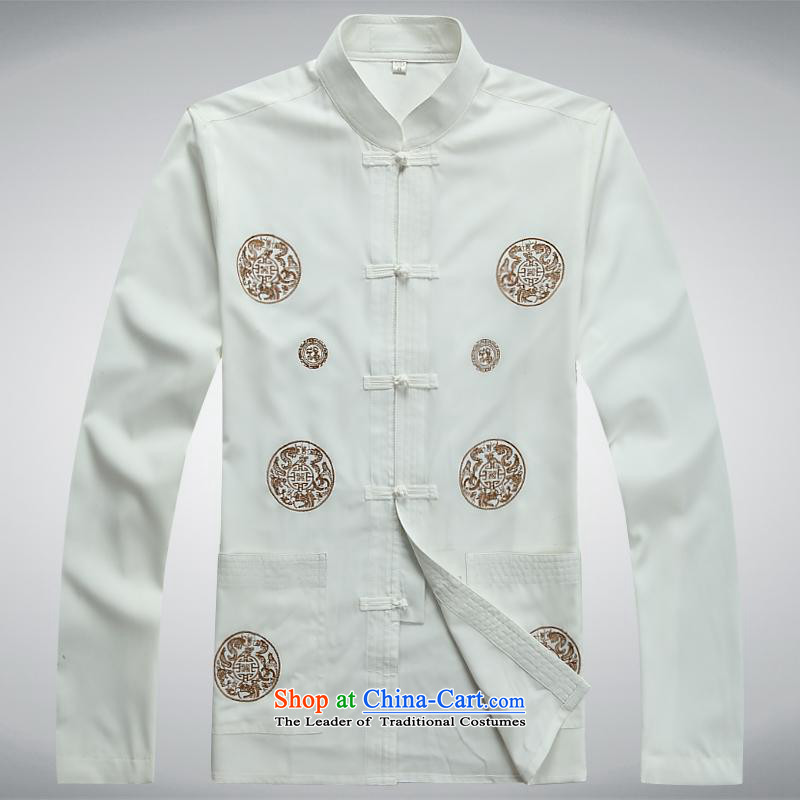 Hundreds of brigade bailv summer Stylish slim, collar comfortable long-sleeved tray clip leisure wears XXXL White