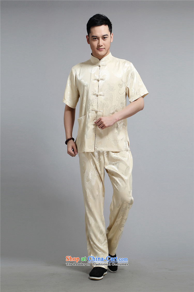 Kanaguri mouse men's short-sleeved in Tang Dynasty older summer T-shirts of older persons in the summer China wind men Tang Dynasty Package gold聽L pictures, prices, brand platters! The elections are supplied in the national character of distribution, so action, buy now enjoy more preferential! As soon as possible.