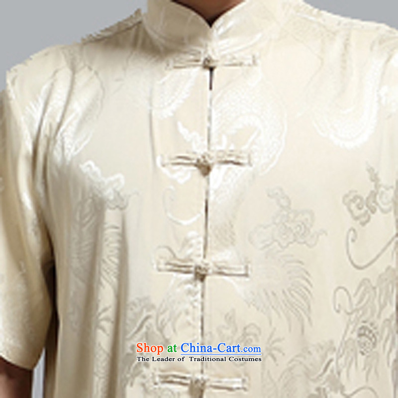 Kanaguri mouse men's short-sleeved in Tang Dynasty older summer T-shirts of older persons in the summer China wind men Tang Dynasty Package Gold聽, L kanaguri mouse (JINLISHU) , , , shopping on the Internet