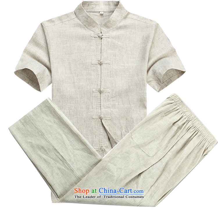 Beijing OSCE Chinese cotton linen men Tang Dynasty Package of older persons in the linen short-sleeved China wind and Tang dynasty summer beige kit聽XXL picture, prices, brand platters! The elections are supplied in the national character of distribution, so action, buy now enjoy more preferential! As soon as possible.