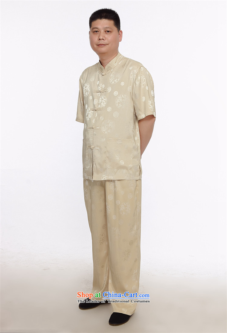Beijing OSCE men's short-sleeved father in Tang Dynasty older grandfather summer T-shirts older persons China wind short-sleeved Tang Dynasty Package gold聽XXXL picture, prices, brand platters! The elections are supplied in the national character of distribution, so action, buy now enjoy more preferential! As soon as possible.
