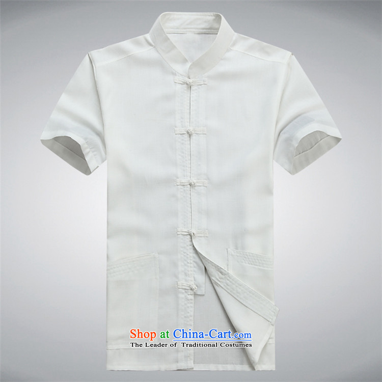 Beijing Europe Tang dynasty male short-sleeved Tang Dynasty Package cotton linen, older men national Han-ball-shirt father summer service kit聽XXXL/190 white picture, prices, brand platters! The elections are supplied in the national character of distribution, so action, buy now enjoy more preferential! As soon as possible.