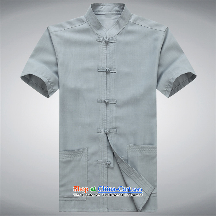 Beijing OSCE summer men Tang dynasty short-sleeve packaged cotton linen Tang Dynasty Short-Sleeve Men linen: replace older dress blue packaged聽XXXL/190 picture, prices, brand platters! The elections are supplied in the national character of distribution, so action, buy now enjoy more preferential! As soon as possible.
