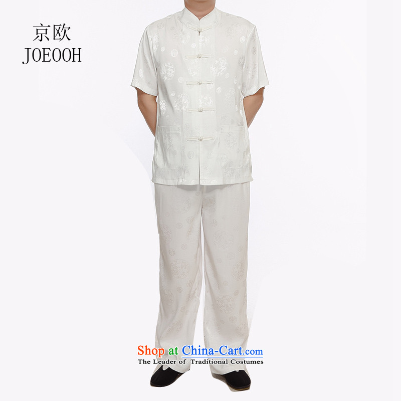 Beijing Summer new circle of OSCE long short-sleeve packaged in Tang Dynasty older men casual shirt, white shirt燬