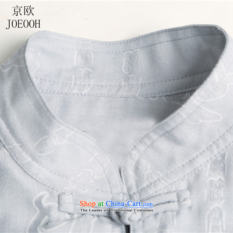 The elderly in the Europe of the Kyung-cotton linen short-sleeve kit Tang dynasty men casual shirts in large relaxd summer men exercise clothing beige聽XXXL/185, Putin (JOE OOH) , , , shopping on the Internet