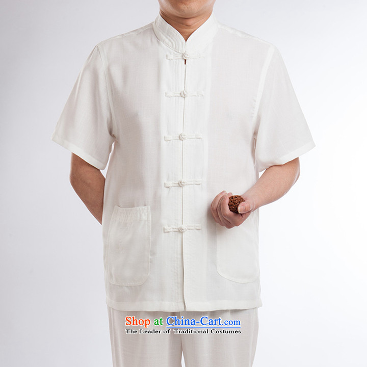 Tang Dynasty Package Short-Sleeve Men linen tai chi services cotton linen flax martial arts services practice suits meditation ball-service leisure Tang blouses men kit half sleeve white men聽170 pictures, prices, brand platters! The elections are supplied in the national character of distribution, so action, buy now enjoy more preferential! As soon as possible.