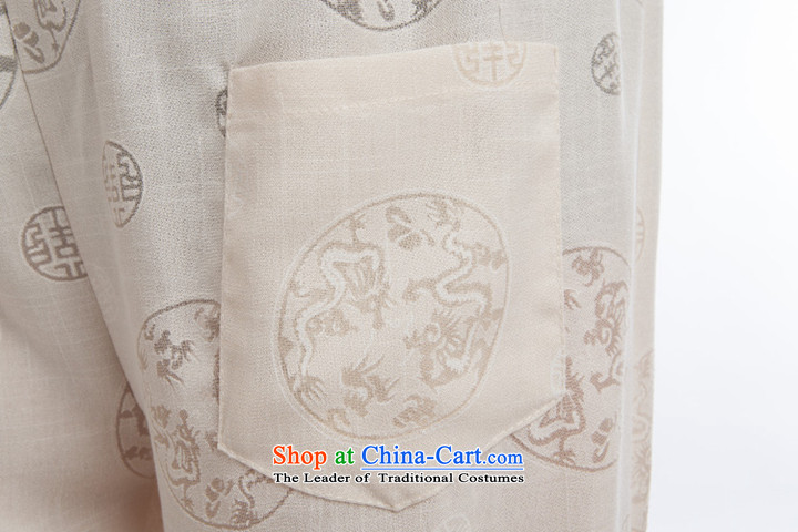 Flax men Tang Dynasty Package China wind short-sleeved pants summer load tray clip collar manually retro Chinese national costumes of a set of聽185 pictures, beige price, brand platters! The elections are supplied in the national character of distribution, so action, buy now enjoy more preferential! As soon as possible.
