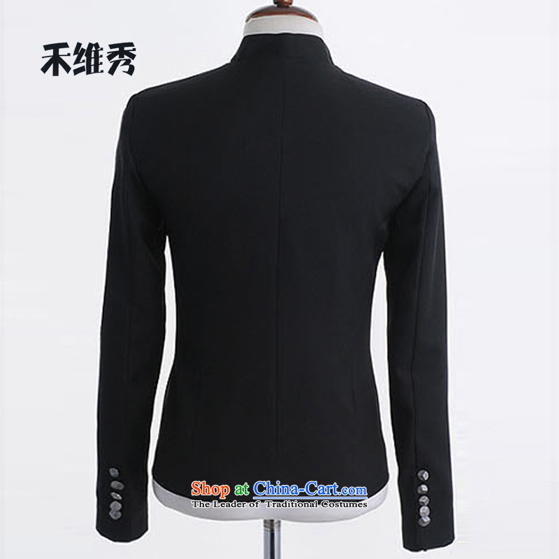 Korihide Wo Men's Jackets Korean Street Chinese tunic preppy couples jacket thick聽M wo korihide shopping on the Internet has been pressed.