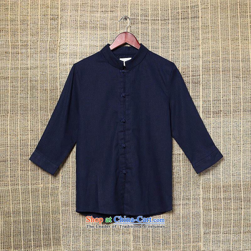 Dan Jie Shi Autumn Chinese Wind men casual shirts in large flows of linen with solid color shirt Tang cotton linen collar men olive聽, L, Dan Jie Shi (DANJIESHI) , , , shopping on the Internet