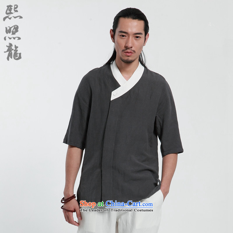 Hee-Snapshot Lung-XZAOLONG/ service men in Loose Cuff) for improved Han-Chinese clothing Tea Service Rust Red XL, Hee-snapshot (XZAOLONG lung) , , , shopping on the Internet