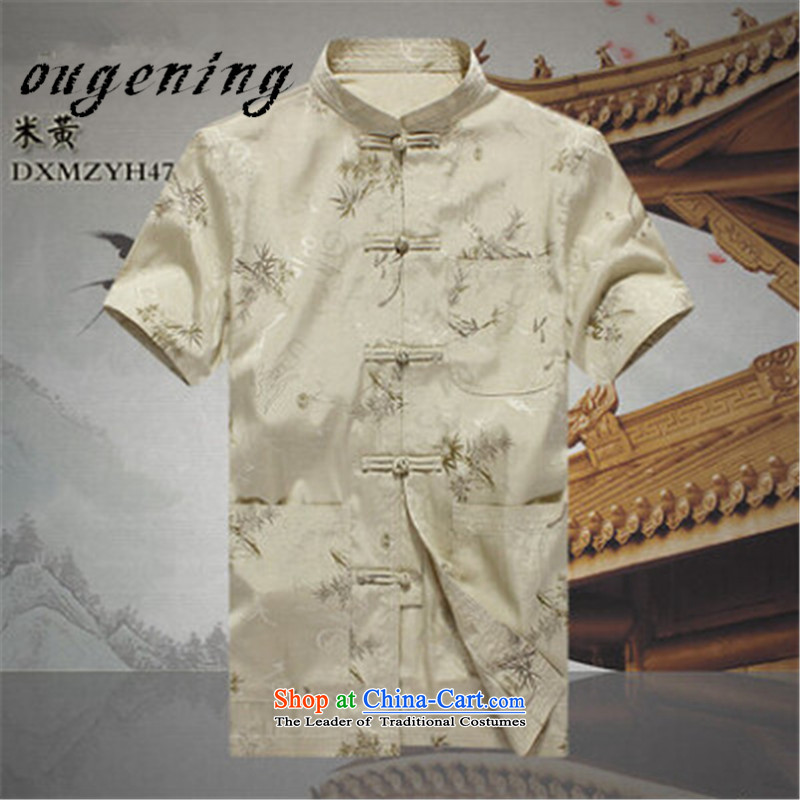 The OSCE, 2015 summer, China lemonade wind short-sleeved men of older persons in the Tang dynasty father shirt men elderly Chinese Dress Shirt Grandpa summer聽XL180/96, Europe of red lemonade ougening (shopping on the Internet has been pressed.)
