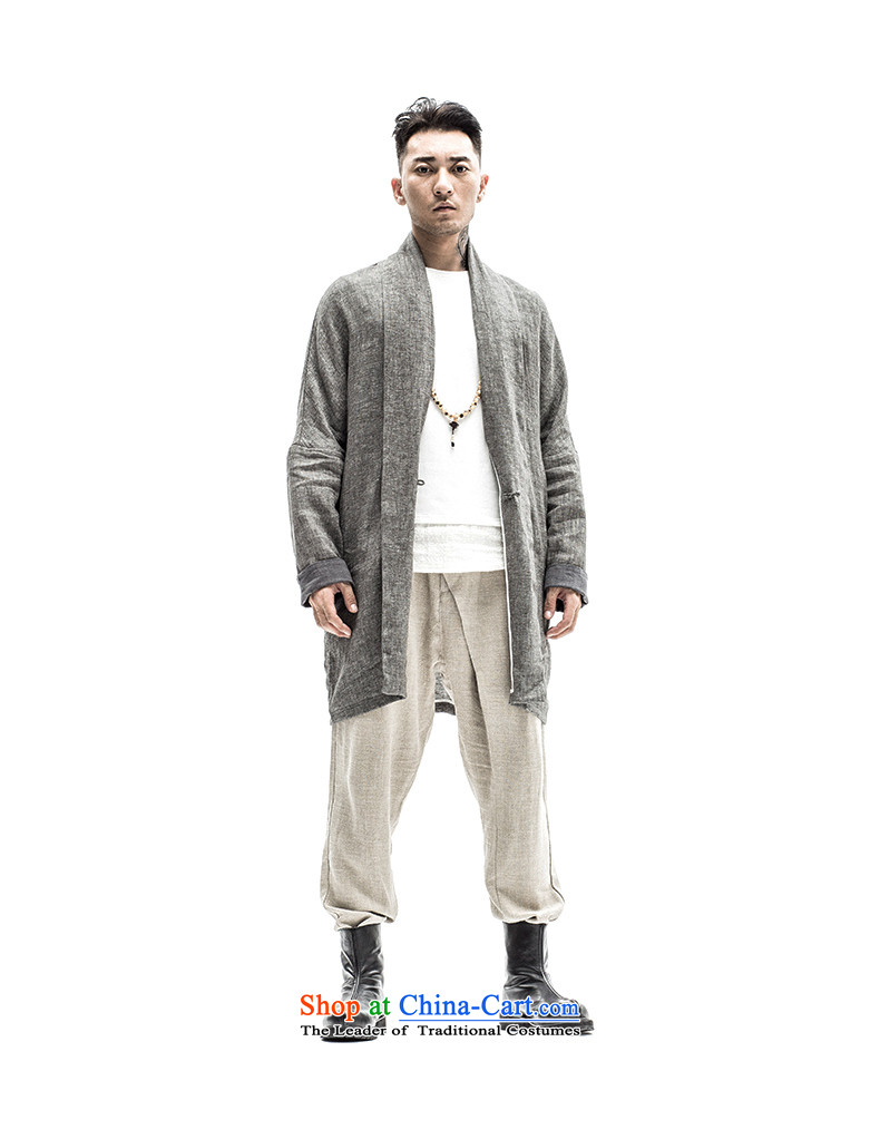 To male Han-tree improvement of Tang Dynasty male long-sleeved sweater cotton linen men Chinese original spring and summer male China wind ma brown聽175/L picture, prices, brand platters! The elections are supplied in the national character of distribution, so action, buy now enjoy more preferential! As soon as possible.