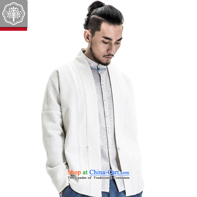To Tree China wind men Tang dynasty improved Han-Menswear Spring 2015 New Chinese original male meditation white聽165_S services