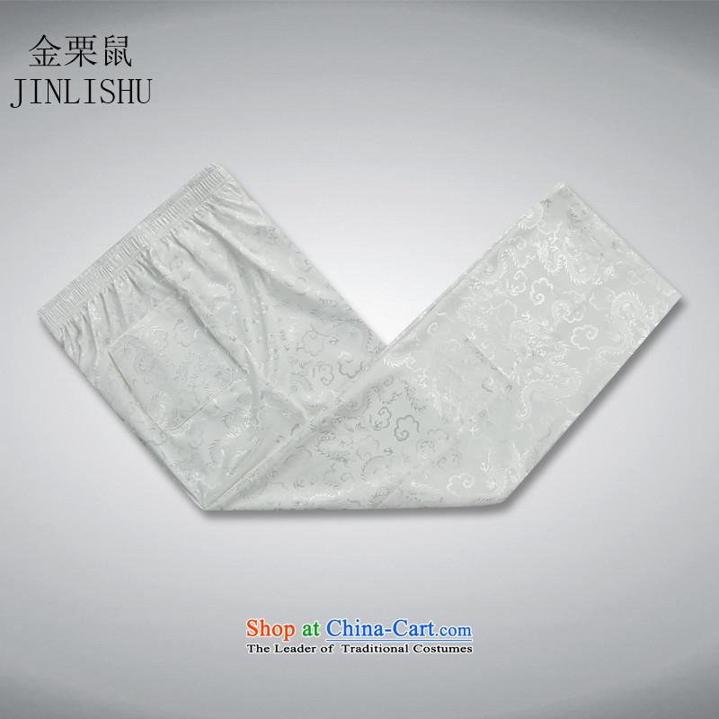 Kanaguri summer older men mouse Tang Dynasty Package short-sleeved thin, older men's shirts father boxed large shirt, beige聽XXXL, kit kanaguri mouse (JINLISHU) , , , shopping on the Internet