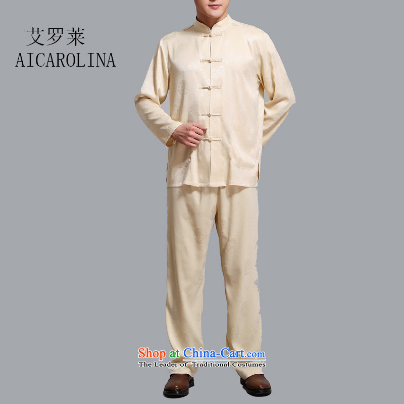 Airault letang boxed kit light summer, China wind disc is older men long-sleeved Tang Dynasty Package Boxed Gold Grandpa燲XL
