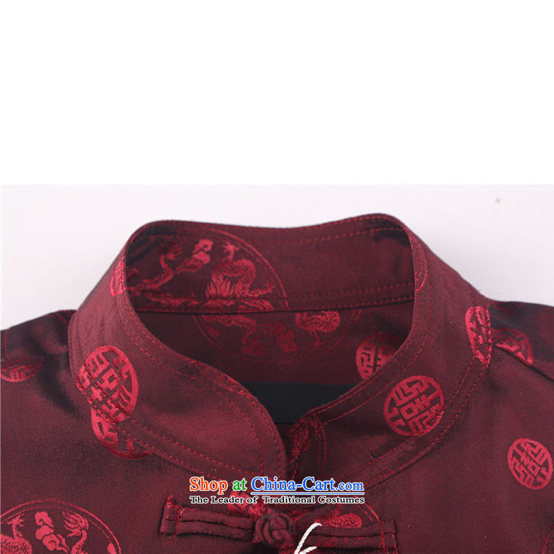 Rollet HIV from older men long-sleeved Tang dynasty China wind older leisure wears martial shirt jogs Han-blue XL, HIV (AICAROLINA ROLLET) , , , shopping on the Internet
