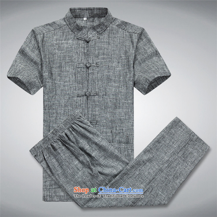 Hiv Rollet short-sleeve packaged in Tang Dynasty older men Chinese leisure Mock-Neck Shirt clip-Dark gray disk pack聽XL Photo, prices, brand platters! The elections are supplied in the national character of distribution, so action, buy now enjoy more preferential! As soon as possible.