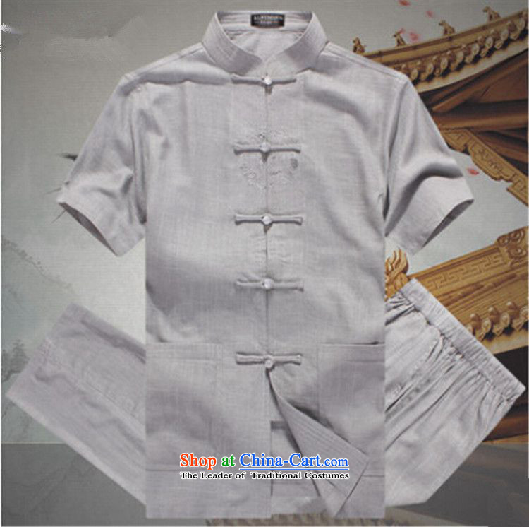 The name of the 2015 summer of the OSCE, men China wind leisure suite Tang dynasty men linen short-sleeved elderly father replace linen tunic summer beige聽M picture, prices, brand platters! The elections are supplied in the national character of distribution, so action, buy now enjoy more preferential! As soon as possible.