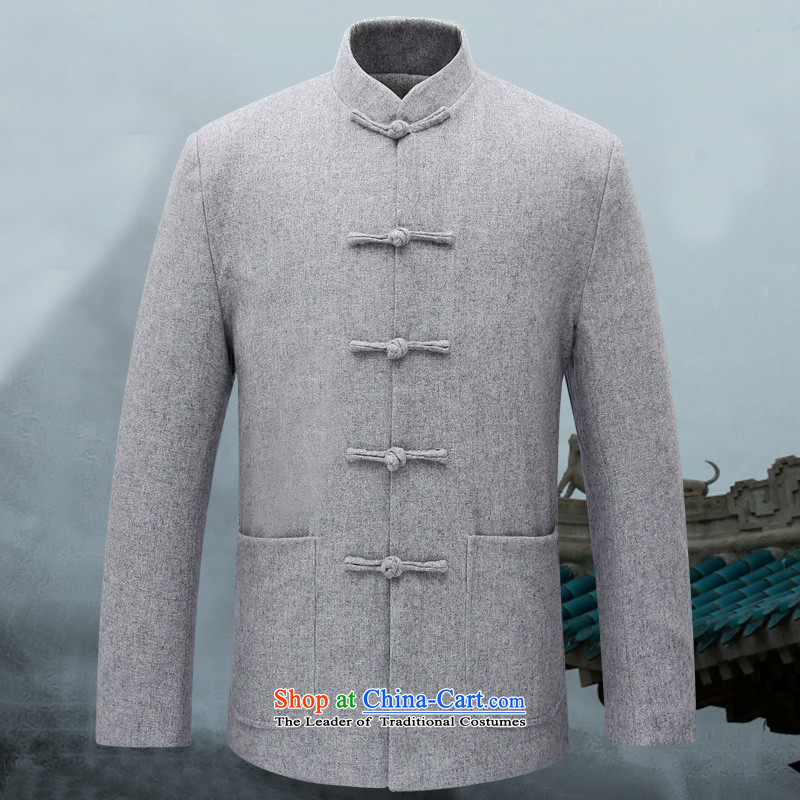 Tang Dynasty mr.baidis male couples Zhongshan Chuseok winter men thick hair? Tang Gown of older persons in the Gray XL-180 MN01 load Dad